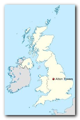 Alton Towers Standort